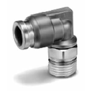 KQB2L, Угловое металлическое быстроразъемное соединение с наружной резьбой