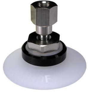ZPT-B*, Вакуум-присос без буфера с шарниром, с внутренней резьбой, подвод вакуума сверху