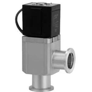 XLS, Угловой клапан для высокого вакуума, электромагнитный, сильфонный тип